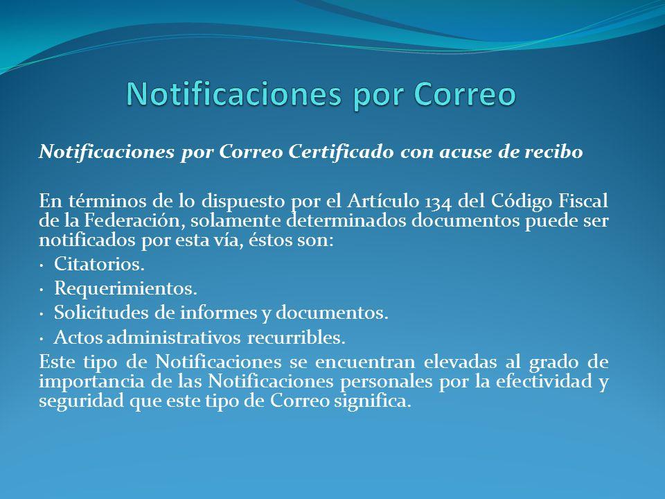 Notificaciones por Correo