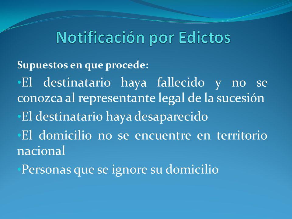Notificación por Edictos