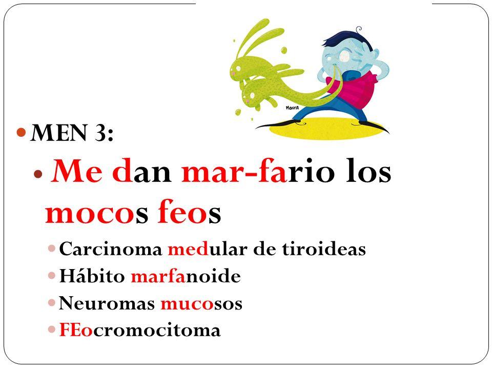MEN 3: Me dan mar-fario los mocos feos Carcinoma medular de tiroideas