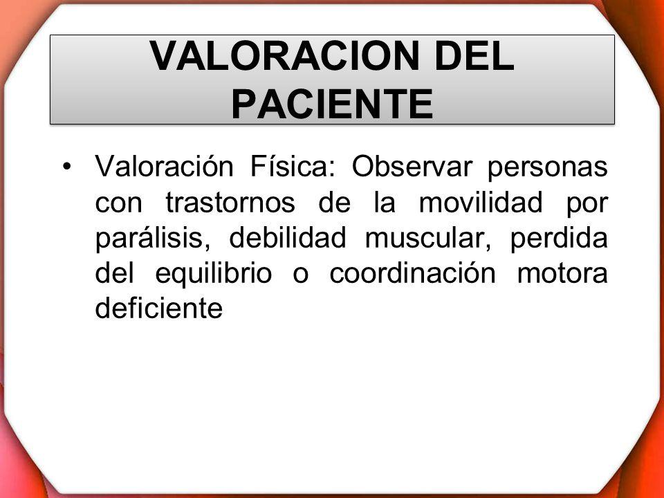 VALORACION DEL PACIENTE