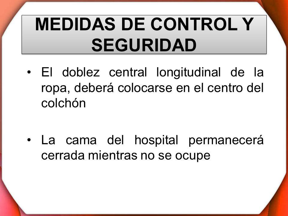 MEDIDAS DE CONTROL Y SEGURIDAD