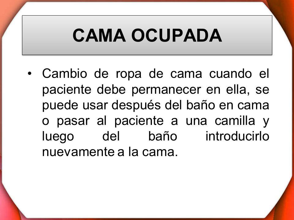 CAMA OCUPADA