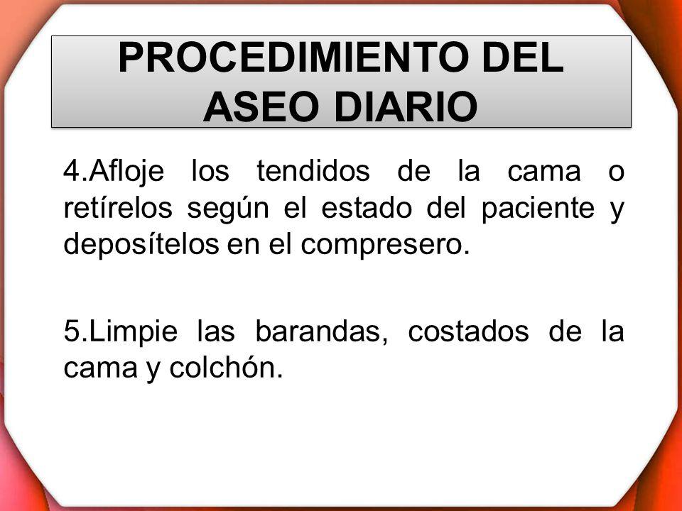 PROCEDIMIENTO DEL ASEO DIARIO
