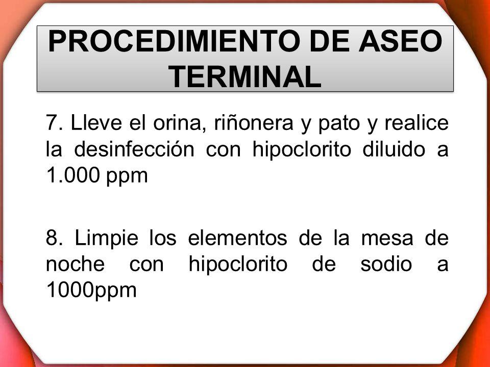PROCEDIMIENTO DE ASEO TERMINAL