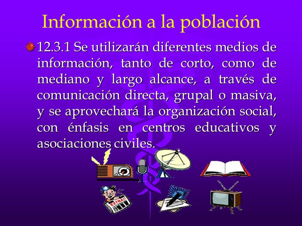Información a la población