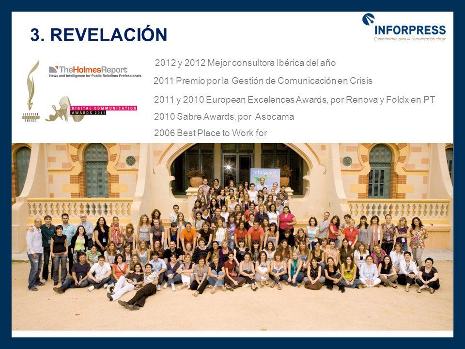 3. REVELACIÓN 2012 y 2012 Mejor consultora Ibérica del año