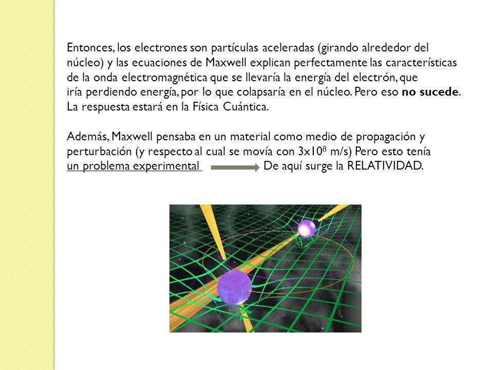 Entonces, los electrones son partículas aceleradas (girando alrededor del
