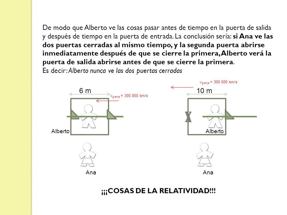 ¡¡¡COSAS DE LA RELATIVIDAD!!!