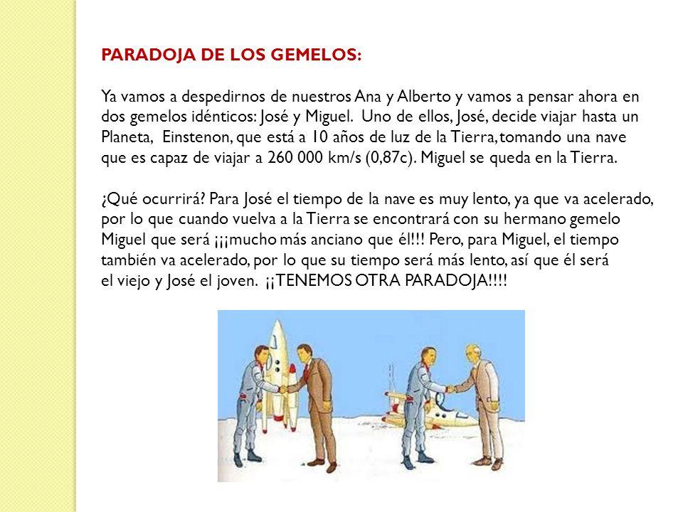 PARADOJA DE LOS GEMELOS: