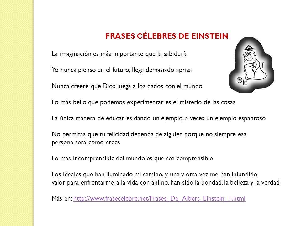 FRASES CÉLEBRES DE EINSTEIN