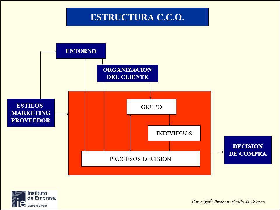 ESTRUCTURA C.C.O. ENTORNO ORGANIZACION DEL CLIENTE ESTILOS GRUPO