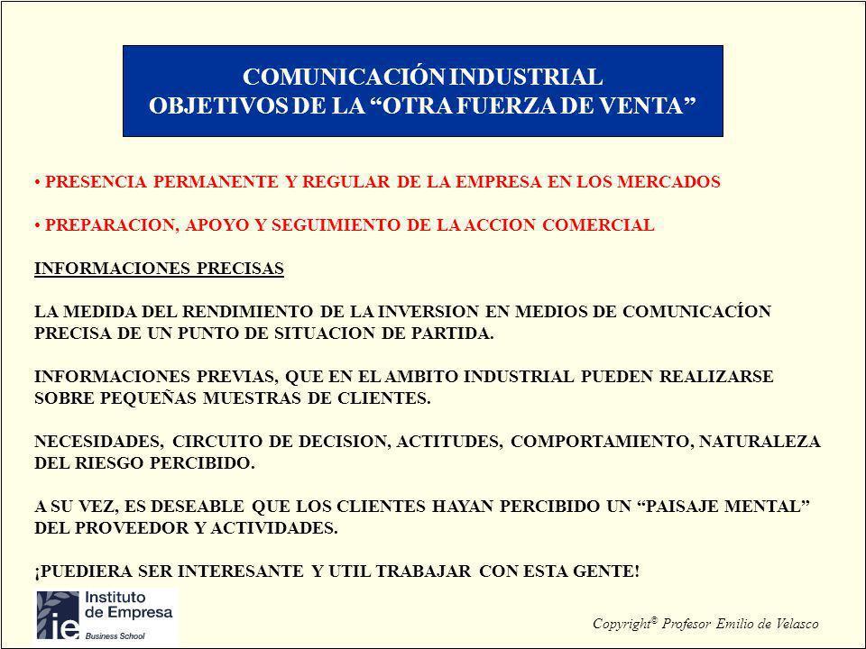 COMUNICACIÓN INDUSTRIAL OBJETIVOS DE LA OTRA FUERZA DE VENTA