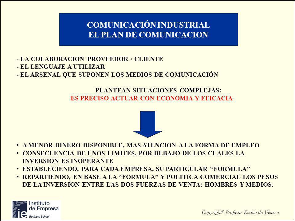 COMUNICACIÓN INDUSTRIAL EL PLAN DE COMUNICACION