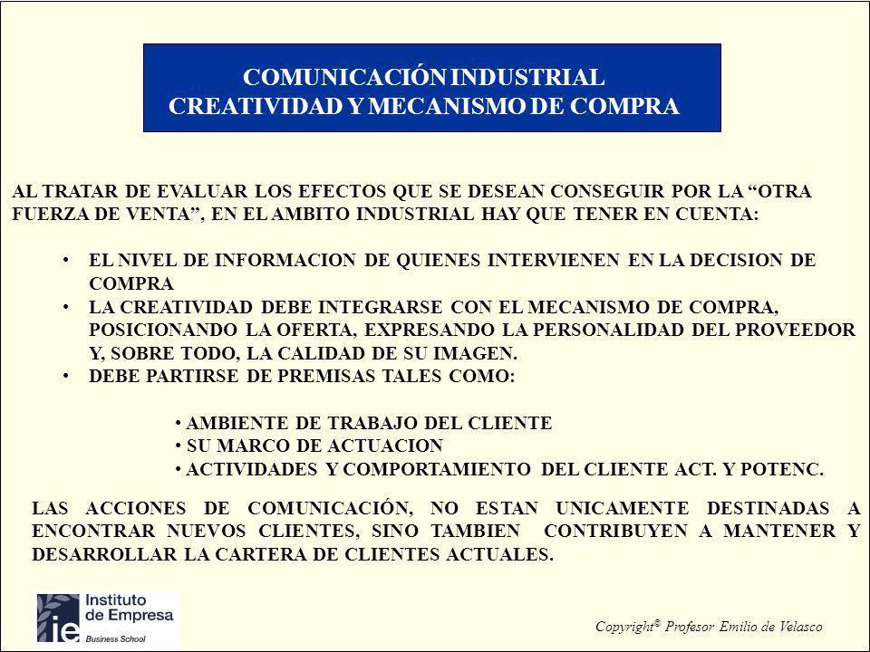 COMUNICACIÓN INDUSTRIAL CREATIVIDAD Y MECANISMO DE COMPRA