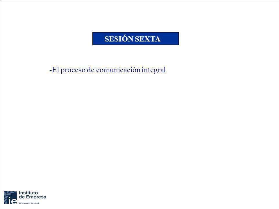 SESIÓN SEXTA El proceso de comunicación integral.