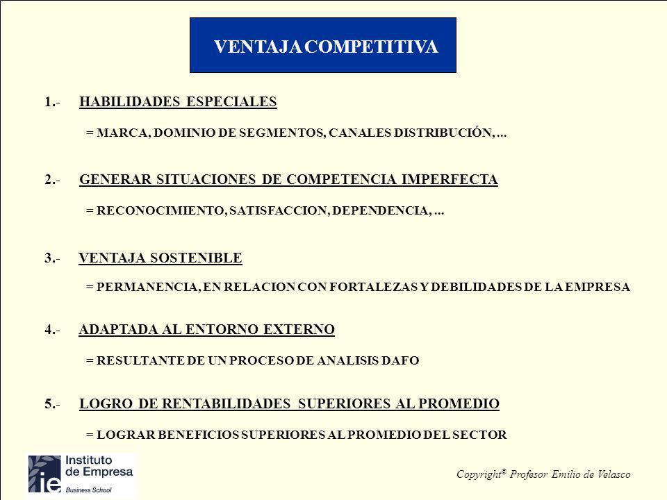VENTAJA COMPETITIVA 1.- HABILIDADES ESPECIALES
