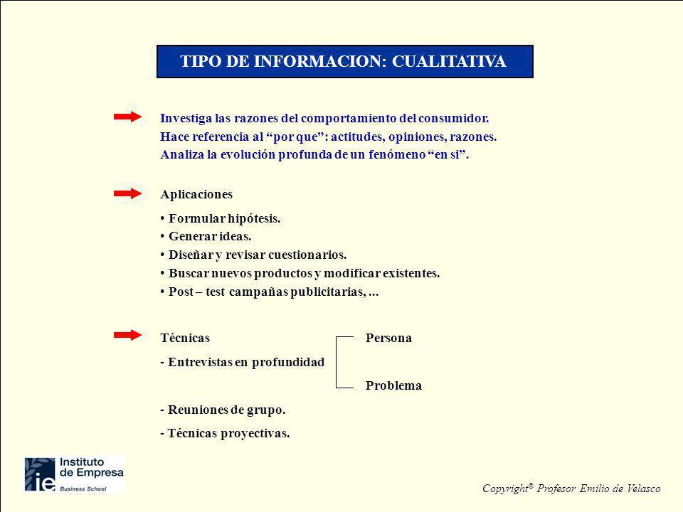 TIPO DE INFORMACION: CUALITATIVA