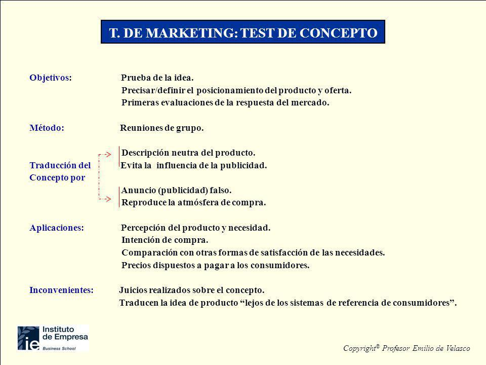 T. DE MARKETING: TEST DE CONCEPTO