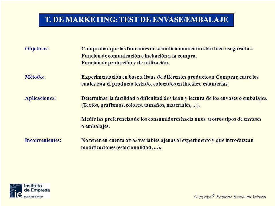 T. DE MARKETING: TEST DE ENVASE/EMBALAJE