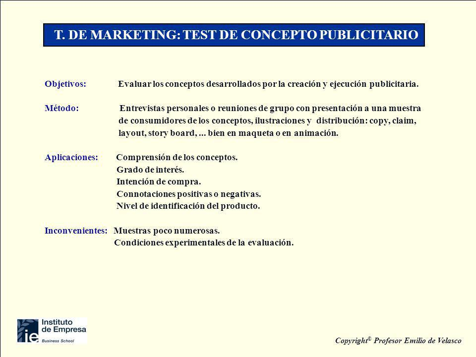 T. DE MARKETING: TEST DE CONCEPTO PUBLICITARIO