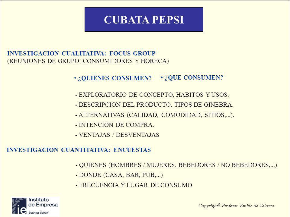 CUBATA PEPSI INVESTIGACION CUALITATIVA: FOCUS GROUP