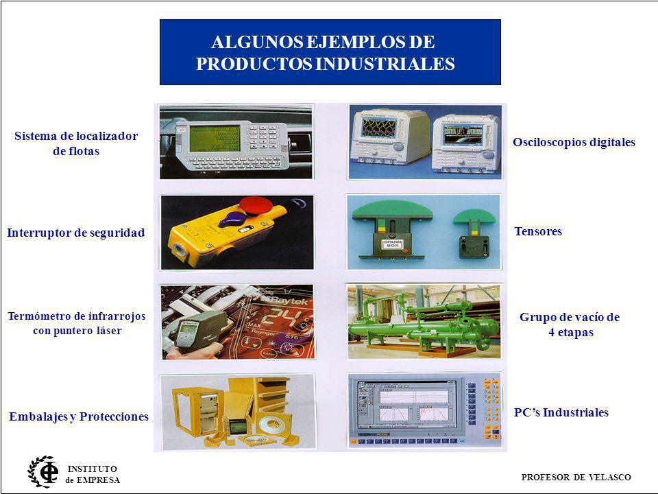 ALGUNOS EJEMPLOS DE PRODUCTOS INDUSTRIALES