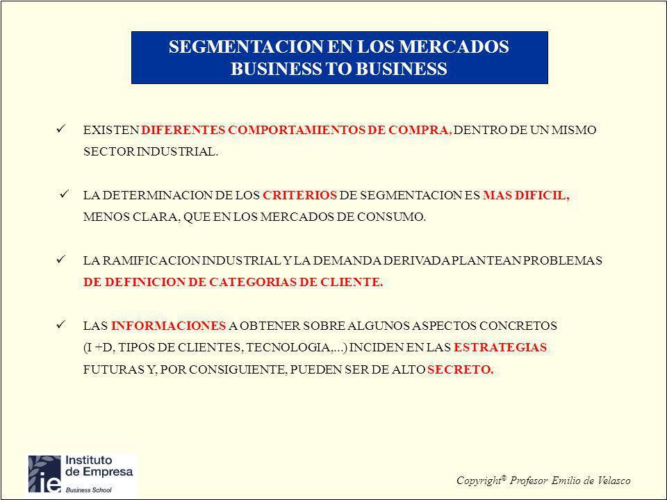 SEGMENTACION EN LOS MERCADOS