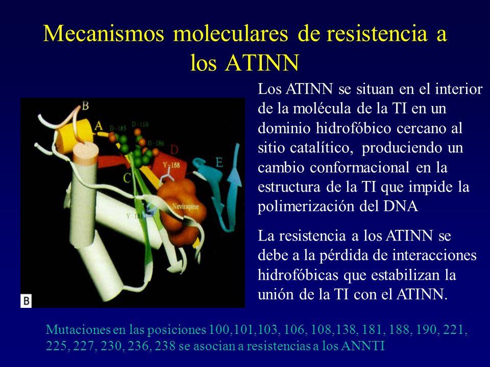 Mecanismos moleculares de resistencia a los ATINN