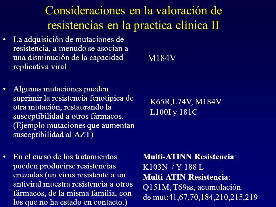 Consideraciones en la valoración de resistencias en la practica clínica II