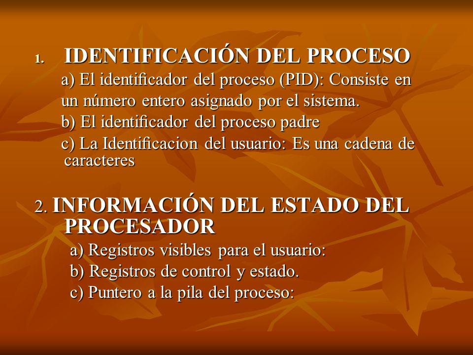 IDENTIFICACIÓN DEL PROCESO