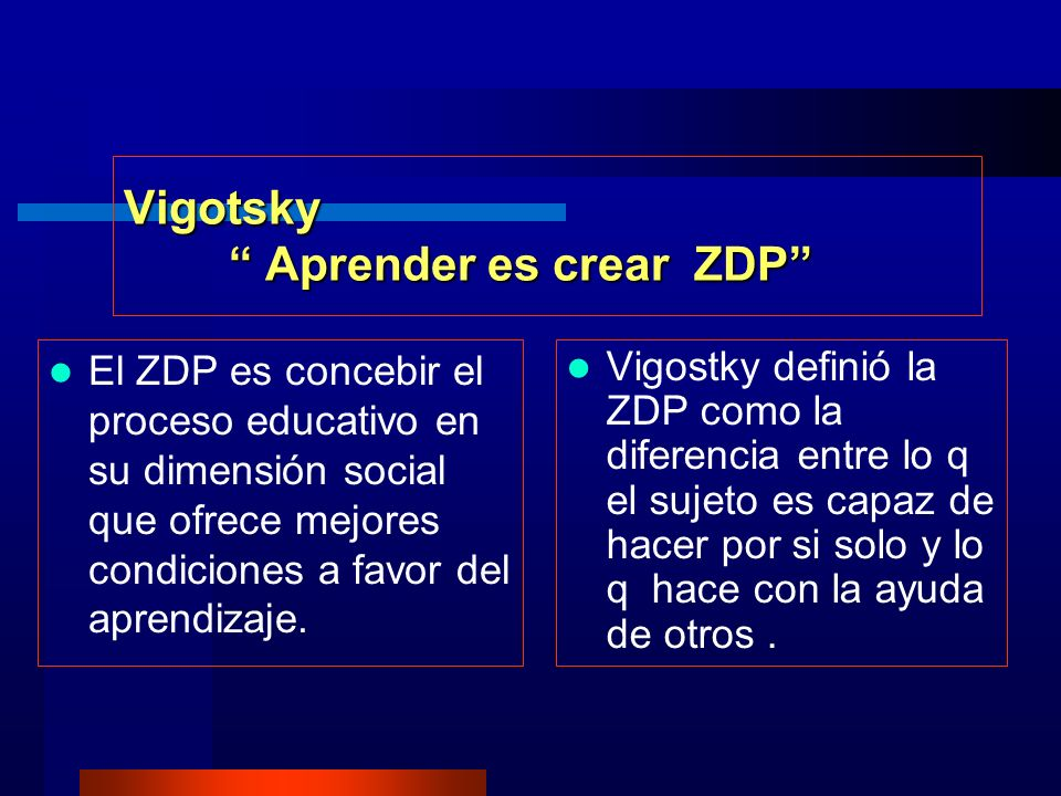 Vigotsky Aprender es crear ZDP