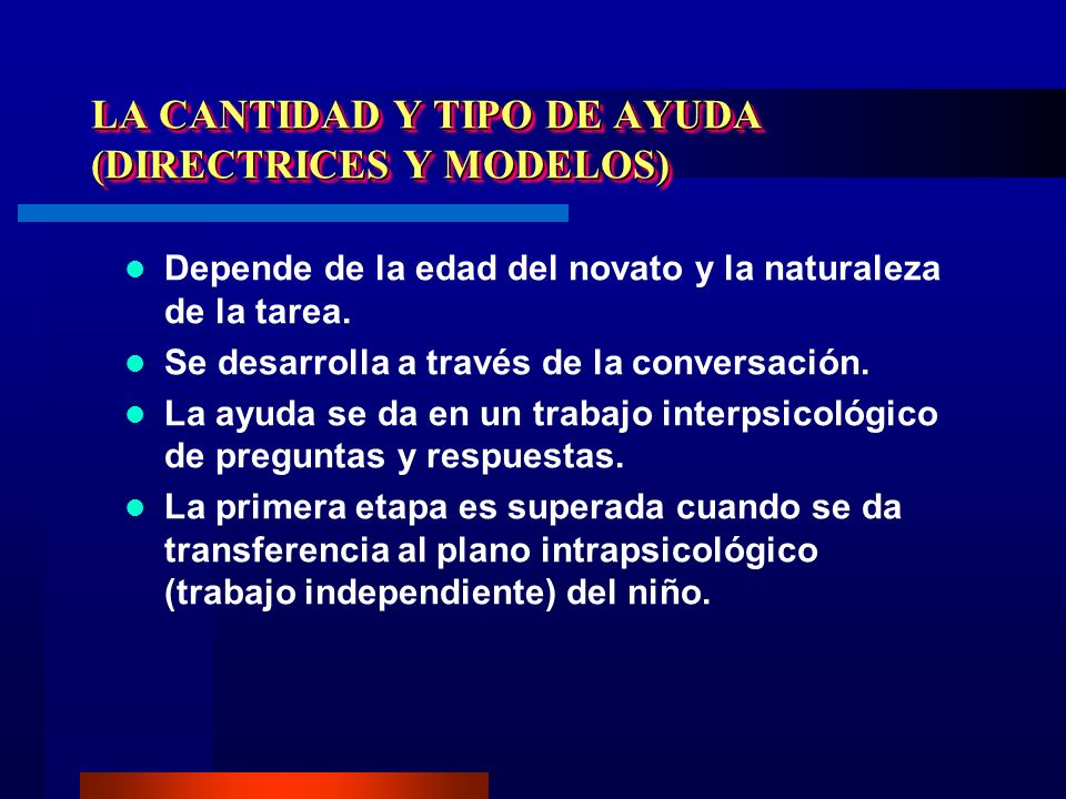 LA CANTIDAD Y TIPO DE AYUDA (DIRECTRICES Y MODELOS)