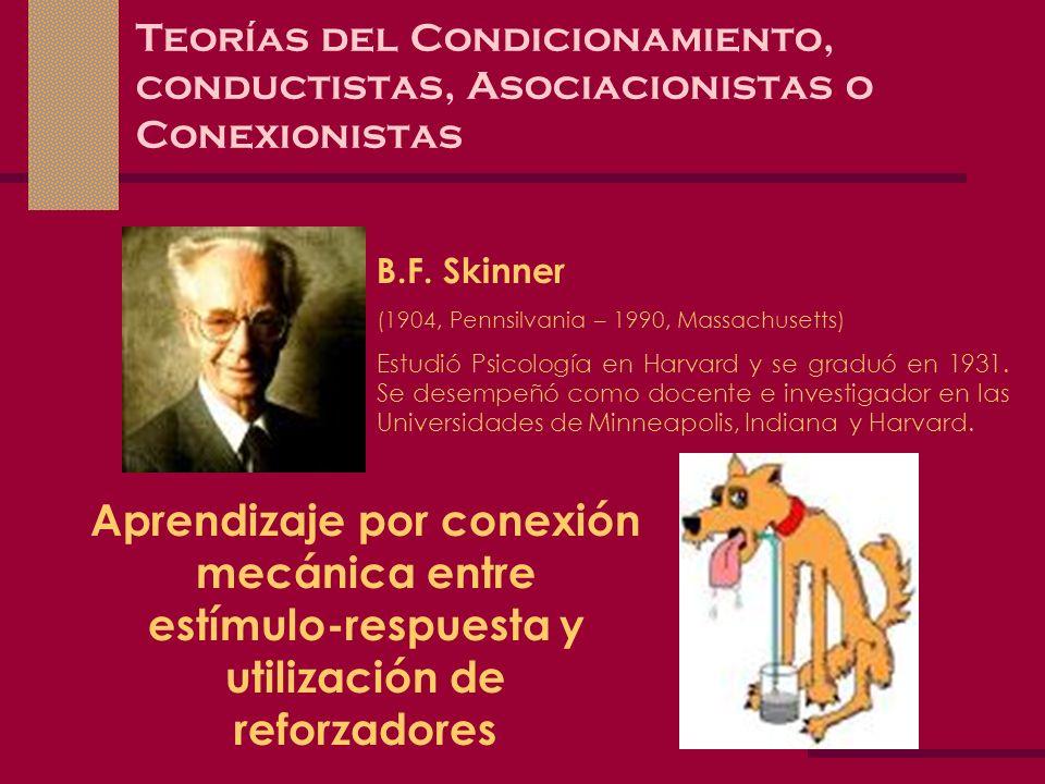 Teorías del Condicionamiento, conductistas, Asociacionistas o Conexionistas