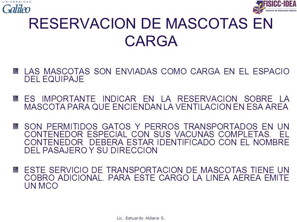 RESERVACION DE MASCOTAS EN CARGA