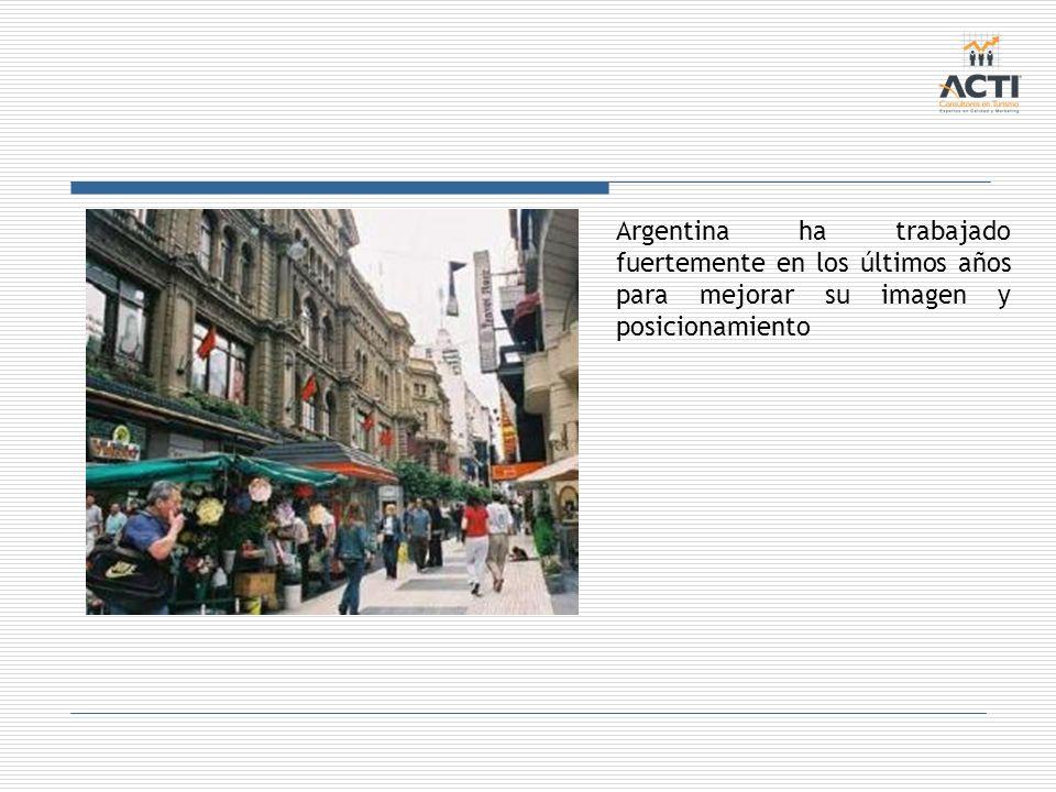 Argentina ha trabajado fuertemente en los últimos años para mejorar su imagen y posicionamiento