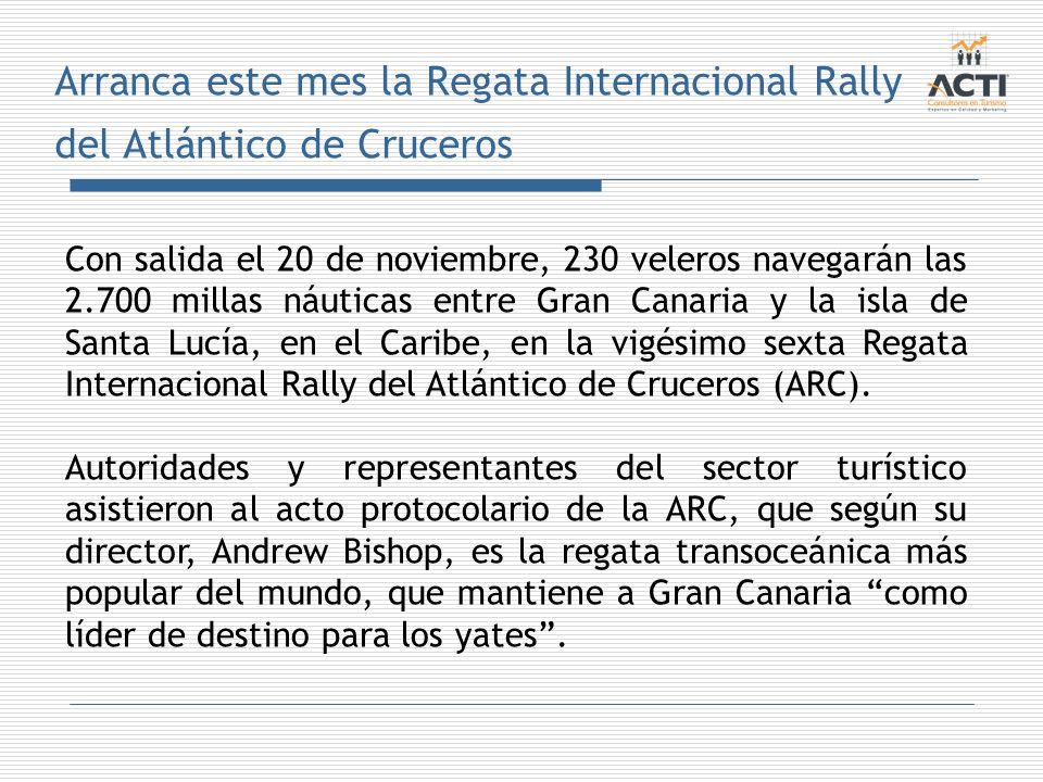 Arranca este mes la Regata Internacional Rally del Atlántico de Cruceros