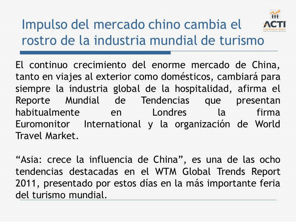 Impulso del mercado chino cambia el rostro de la industria mundial de turismo