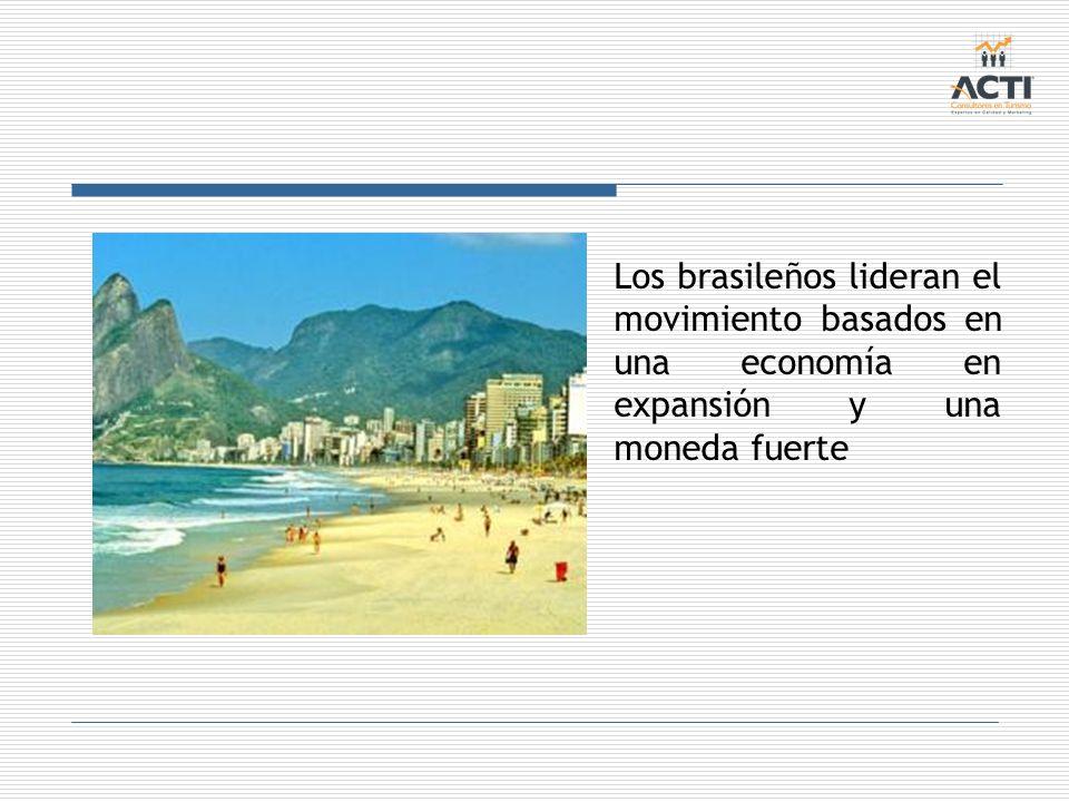 Los brasileños lideran el movimiento basados en una economía en expansión y una moneda fuerte