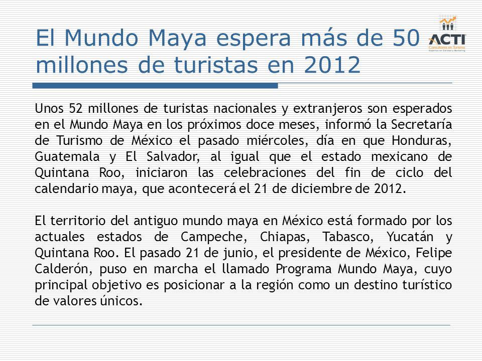 El Mundo Maya espera más de 50 millones de turistas en 2012