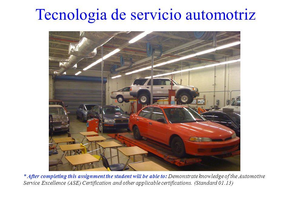 Tecnologia de servicio automotriz