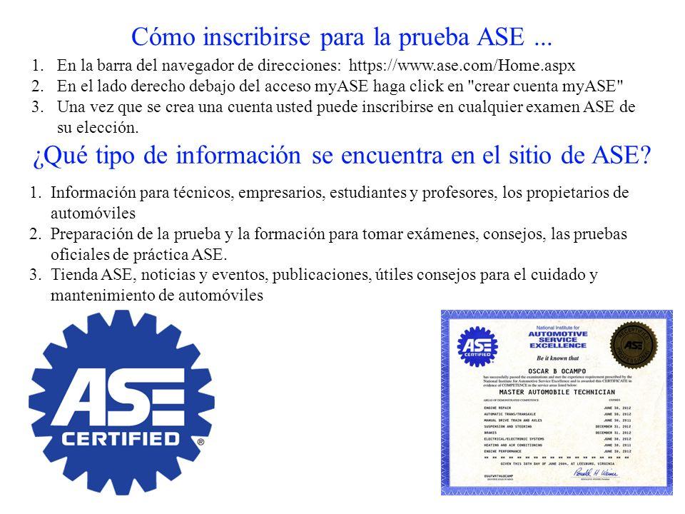 Cómo inscribirse para la prueba ASE ...
