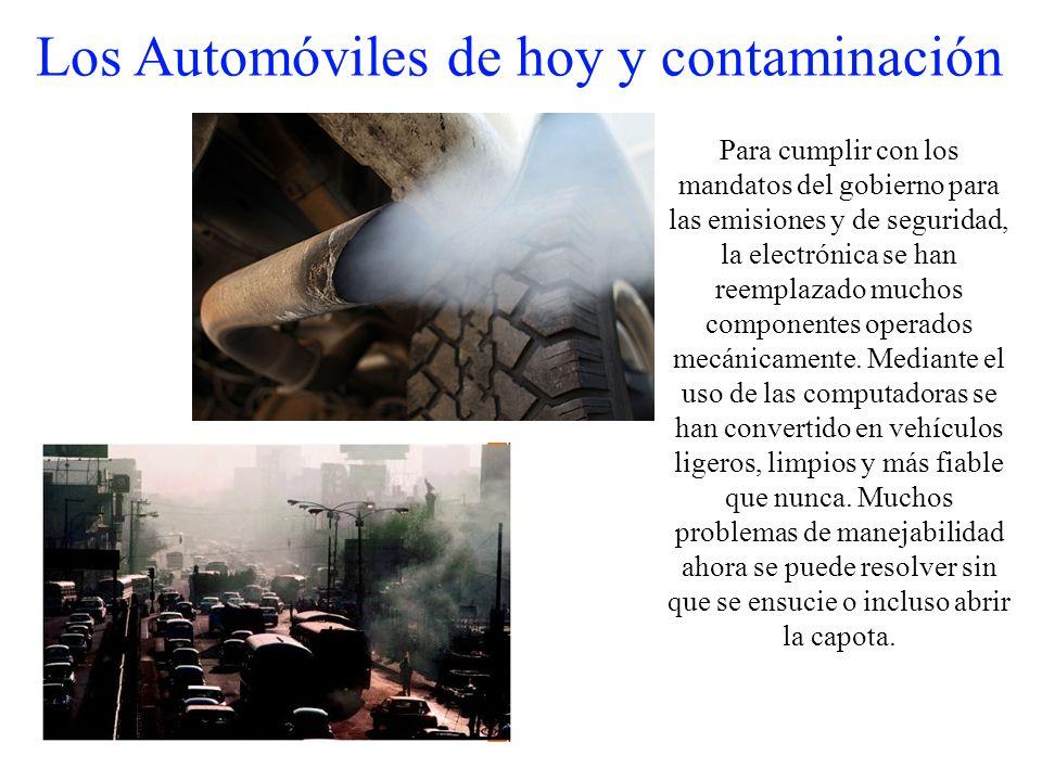 Los Automóviles de hoy y contaminación