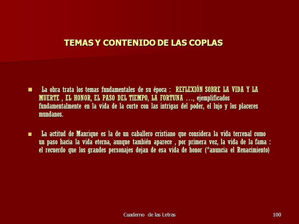 TEMAS Y CONTENIDO DE LAS COPLAS