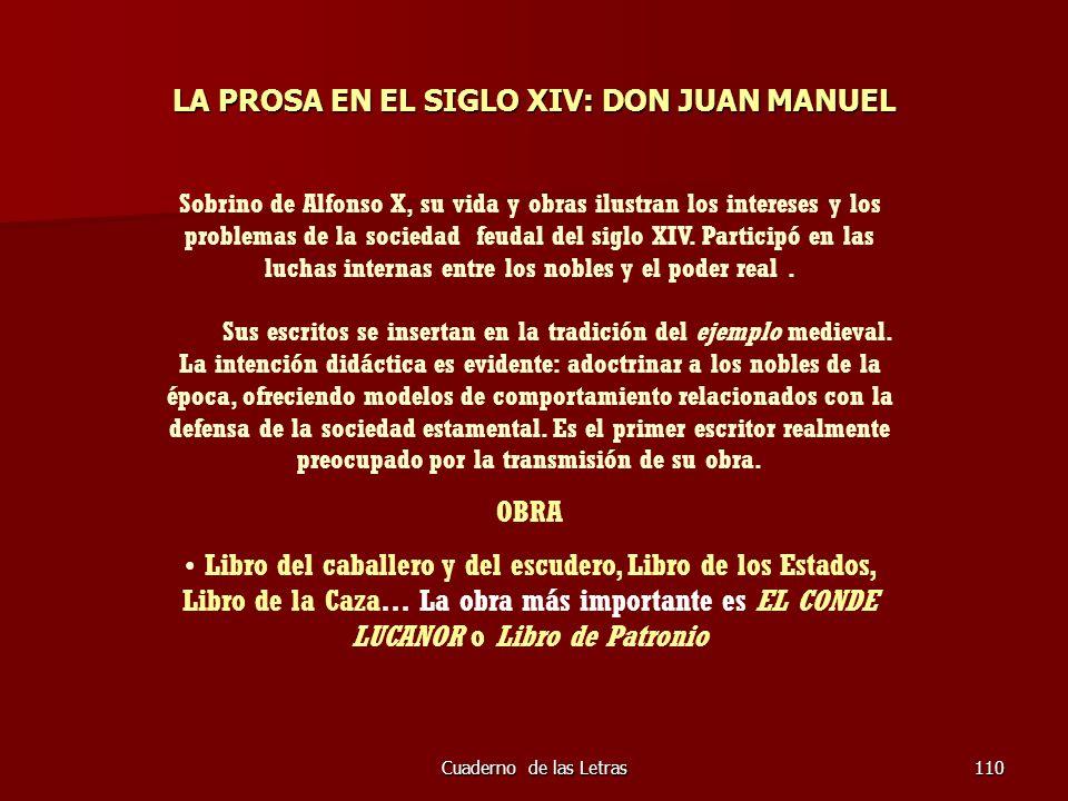 LA PROSA EN EL SIGLO XIV: DON JUAN MANUEL