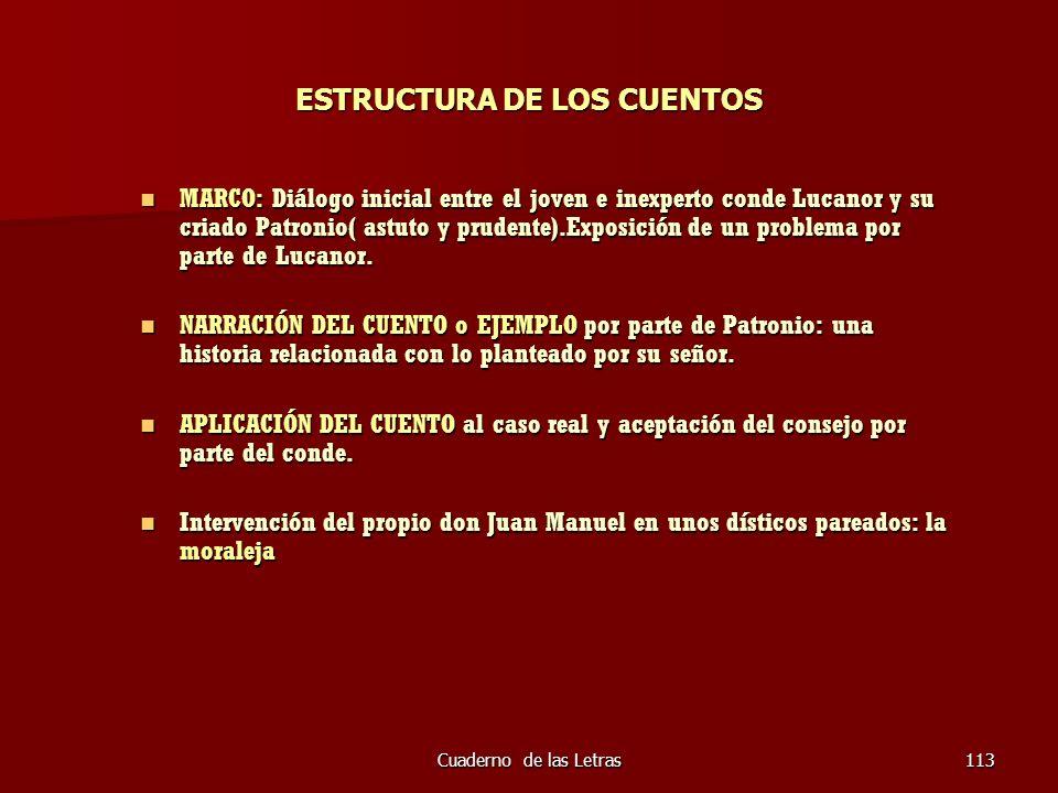 ESTRUCTURA DE LOS CUENTOS