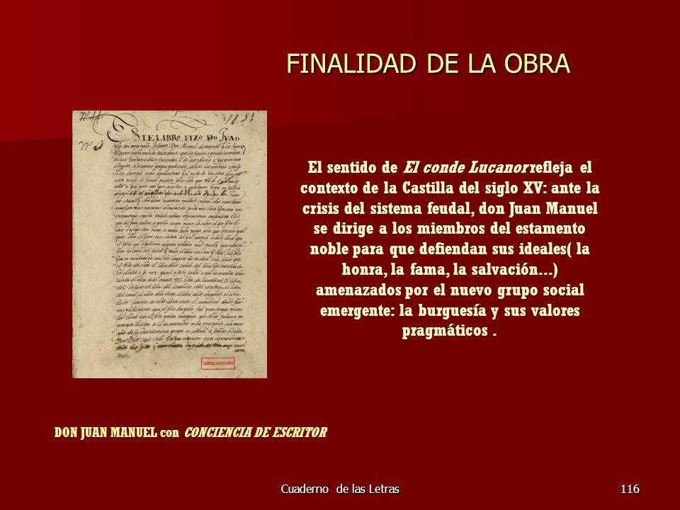 DON JUAN MANUEL con CONCIENCIA DE ESCRITOR