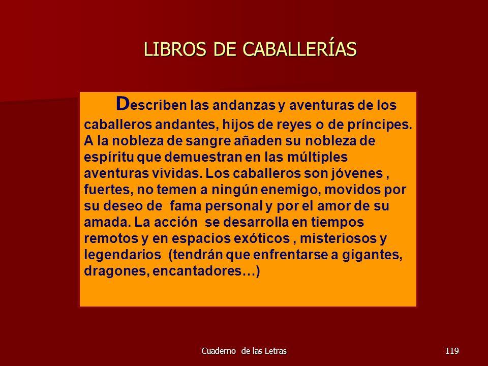 LIBROS DE CABALLERÍAS