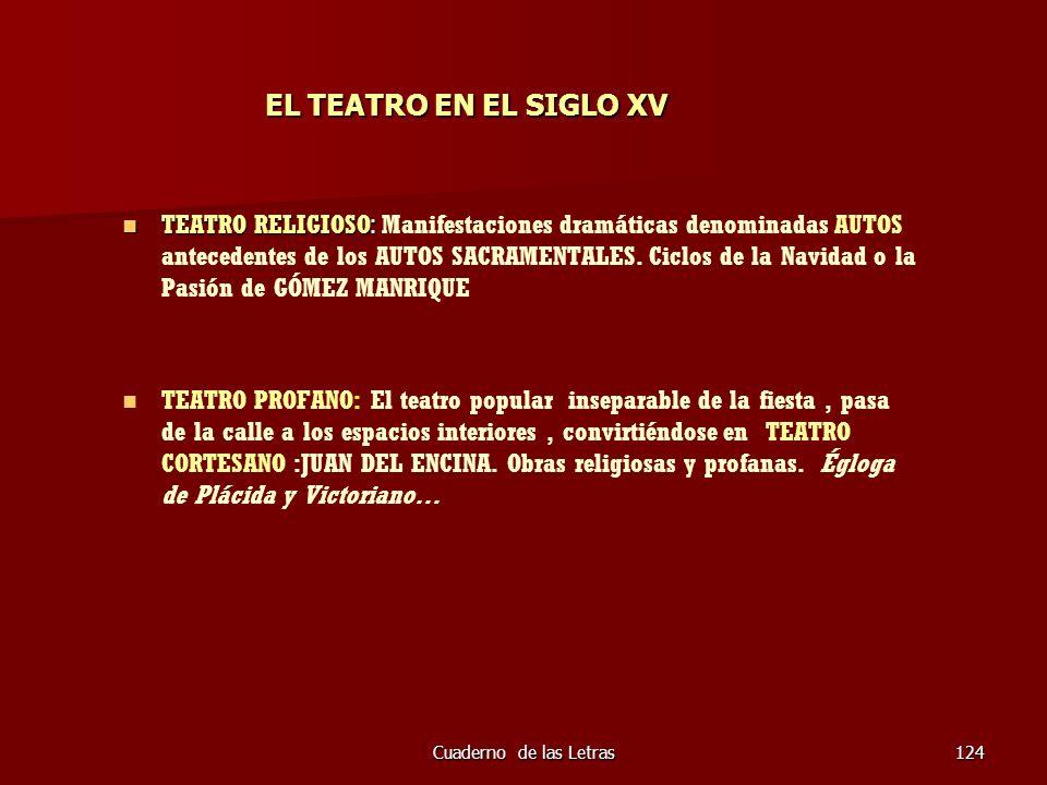 EL TEATRO EN EL SIGLO XV
