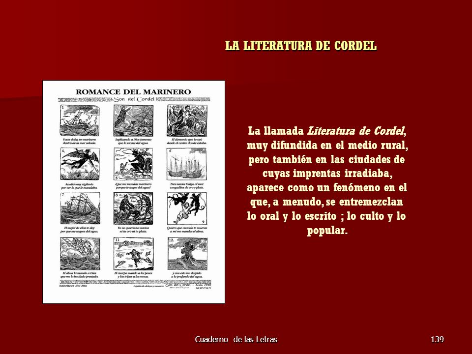 LA LITERATURA DE CORDEL