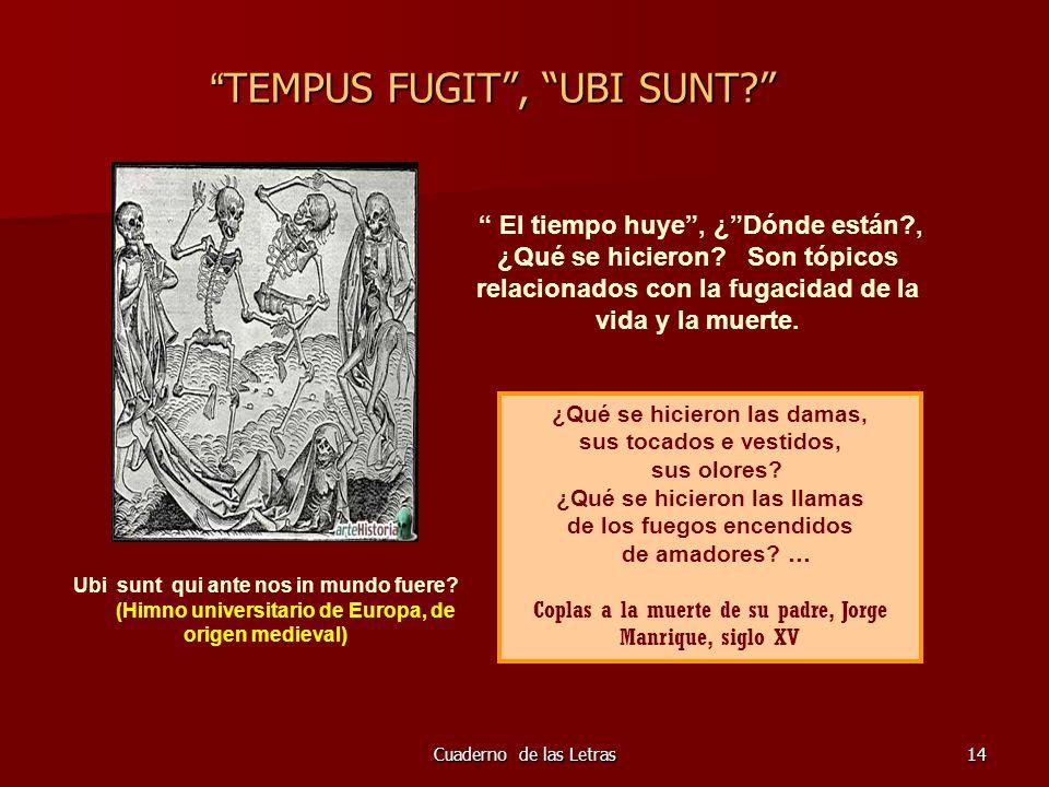 TEMPUS FUGIT , UBI SUNT